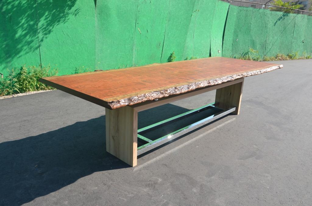 Bubinga Wood Table – Perspective Views
